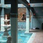the soaking pool
