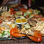Seafood platter for 2 - I think it was $35 ?