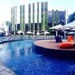 Panoramic pool area