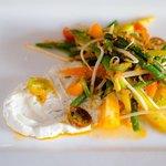 vegetales con queso