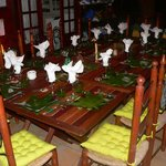 Décoration de la table d'hôte