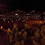 Thousands of luminarias at Besh ba Gowah