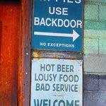 At the Drift Inn entrance