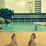 Relax at the Infinity Pool at Pullman Bangkok King Power Hotel