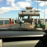 Right before our truck went on the ferry!