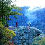 On top of the Hawksbill Crag.