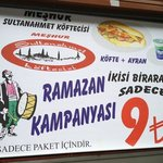 They have special menu for Ramadan