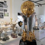 One of the many trophies inside the Football Museum