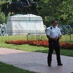 The Secret Service guarding the President