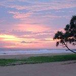 Beautiful Panoram of the Sea at Sunset