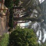 Walkway pool to beach