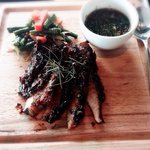 Grilled pork neck with Thai sauce - amazing dish!