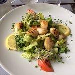 Salade de noix de saint Jacques :-) un régal !