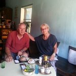 Enjoying the 'Reaching out tea house' in the centre of Hoi An