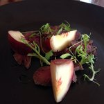 Smoked Venison and White Peach with Sour Honey