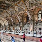 This houses the collection of statues and is 66 meters long!