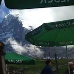 The Eiger as our lunch companion