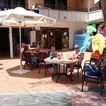 enjoying breakfast outside carmencita