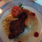 Sirloin steak with cafe de Paris sauce