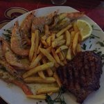 Surf n turf with ladies steak