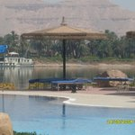 view from the pool over the Nile