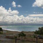 vista dalla camera: la costa verso sud