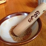 sesame seeds that you have to pound