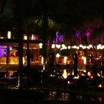 Hotel restaurants at night