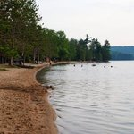 the beach at Lac la Peche