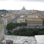 Il panorama dal castello su Città del Vaticano