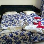 lits et pliages de la femme de ménage