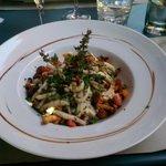 risotto aux calamars grillés et girolles