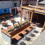 New large beer garden at rear of pub