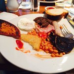 Full Scottish Brkfst...yum!! Comes with haggis and black pudding