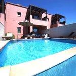 La villa maisonnette, situé dans le haut de l'hôtel avec piscine privée. Avec sa vue sur les cha