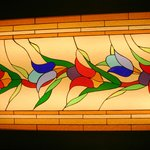 Stained glass tulips in Topkapi Palace