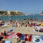One of Malta's few sandy beaches, ten minutes walk.