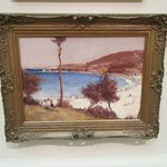 Wonderful Impressionist painting by Tom Roberts 'Holiday Sketch at Coogee 1888'