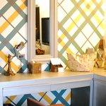The quaint vanity desk