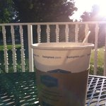 No place else I'd rather sip my coffee, but on a sunny porch!