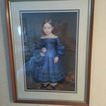 Creepy little girl who watches you in bed. Apparently all rooms in the regency tower have this!