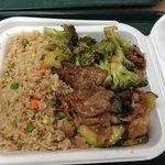 Broccoli Beef mit Reis