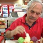 Saboreando la fuente de helados