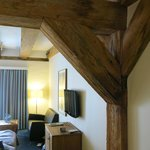 Nice wooden beams throughout the hotel