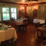 The 'Simplicity' restaurant dining area at Mast Farm Inn.