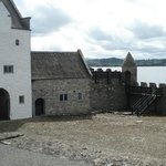 Inside the castle courtyard overlooking Lough Gill