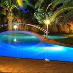 Swimming pool night