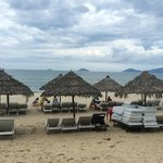 relaxing beach lounges