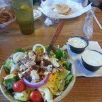 Grilled Chicken Salad with the best blue cheese dressing on the planet!
