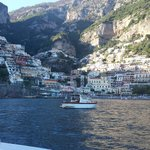 Romantic sea arrival into Positano